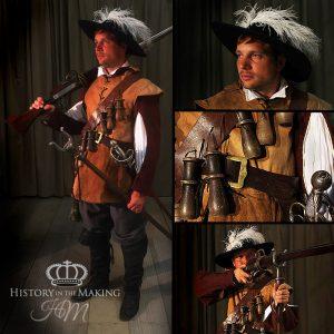 1642-Royalist Matchlock Soldier-Buff jerkin