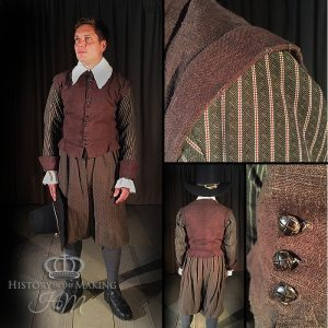 17th Century Gentleman's day clothes- Brown colour set