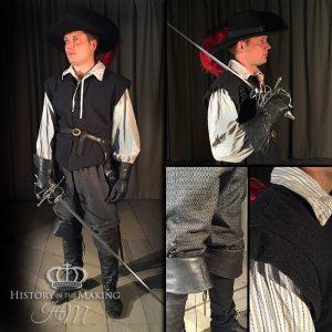 17th Century Gentleman's day clothes-Grey colour set