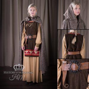 Viking-Saxon Women's Costume- brown colours