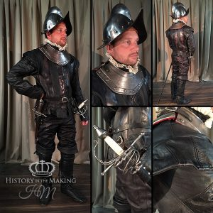 Late 16th Century-High Ranking Soldier- Spanish Morion and Gorget