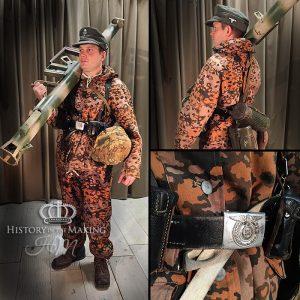 1944- SS Infantry- Winter Padded suit- Oak leaf Camouflage pattern
