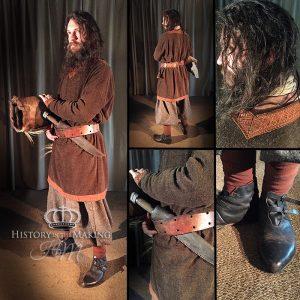 Viking Man (790-1066) in Brown Tunic