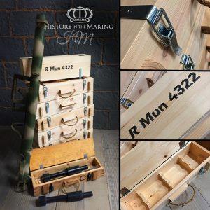 WW2 German Panzerschreck rocket crates- reproduction
