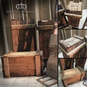 Sturdy Wooden Crates. Large-natural colour