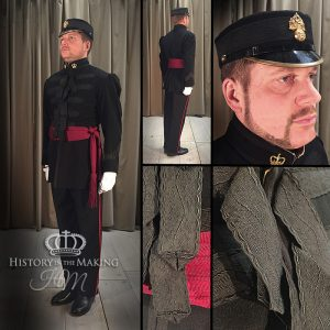 We have a collection of Victorian Uniforms which were made for operatic performance. They are not intended to be exact replicas of any one particular regiment, but instead give a generic impression os soldiers of the Victorian Era.