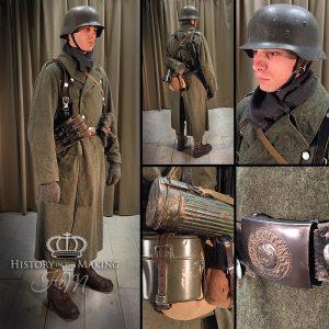 1940-German Infantry-Winter Greatcoat-Converted Swedish Uniform