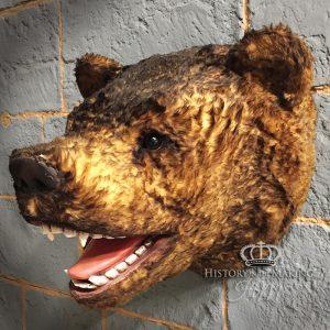 Bear Head hunting trophy- fake fur and plastic