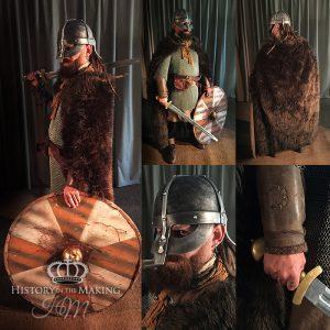 Viking Warrior (790-1066) Chain Mail shirt- bearskin cloak