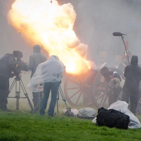 Pyrotechnic Cannon Blast Effect
