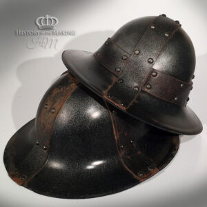 Medieval Helmets for hire- Vac Form Plastic. (Click to open)